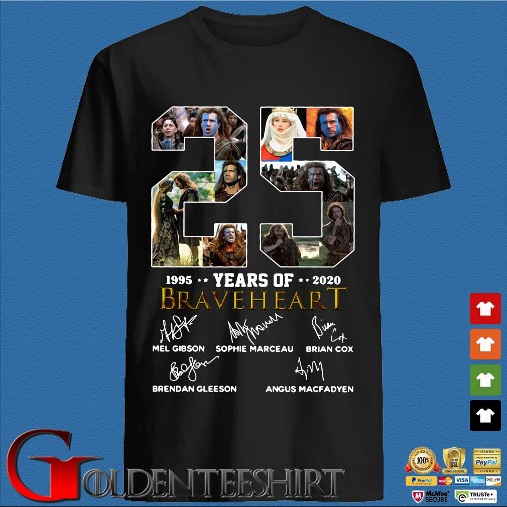 25 years of 1005-2020 Braveheart signatures shirt