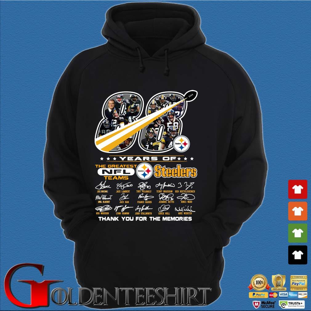 88 years of Pittsburgh Steelers the greatest NFl teams thank you for the memories signatures s Hoodie đen