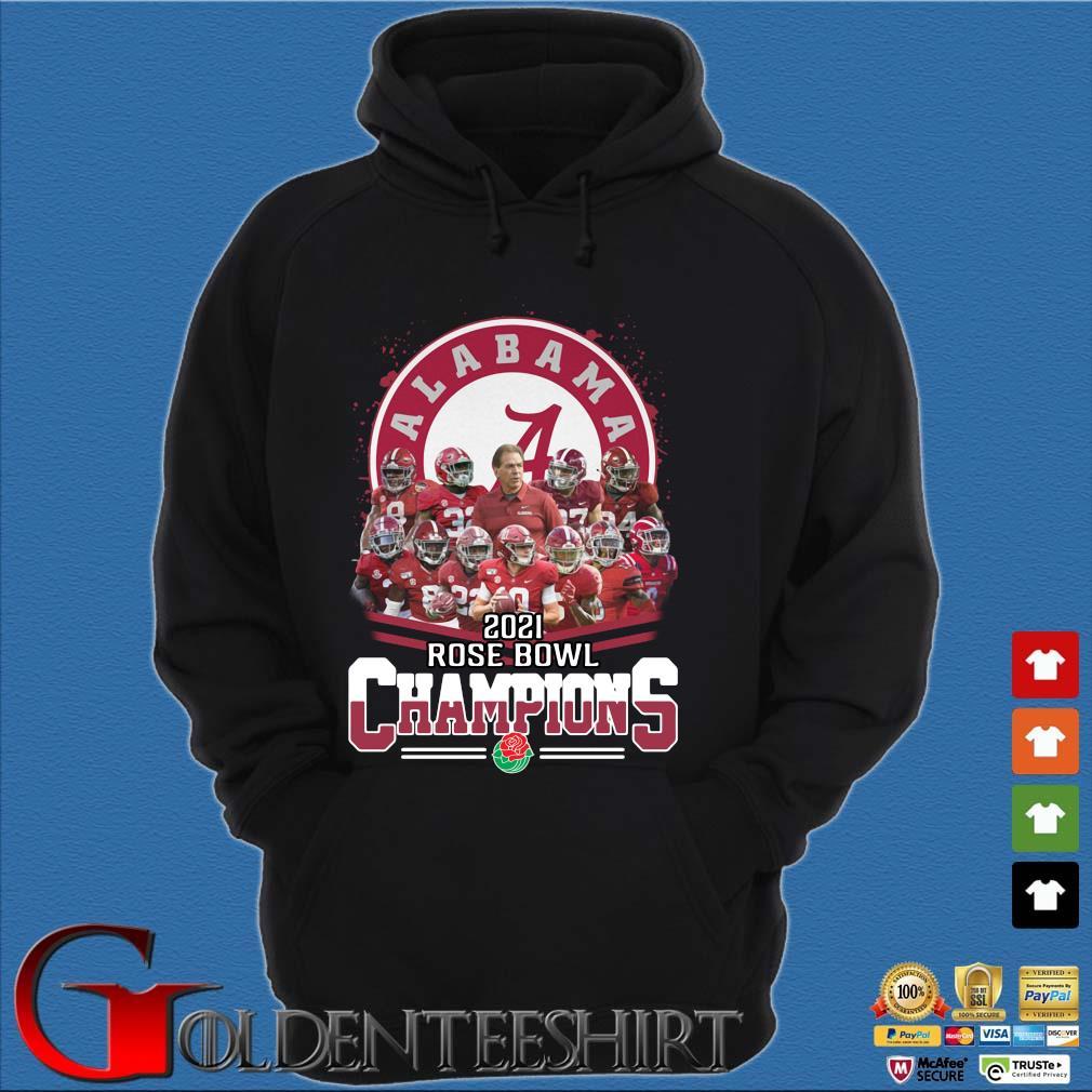 Alabama Crimson Tide 2021 Rose Bowl Champions s Hoodie đen