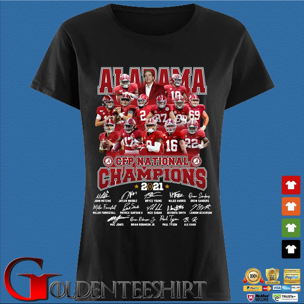Alabama Crimson Tide CFP national Champions 2021 signatures s Den Ladies