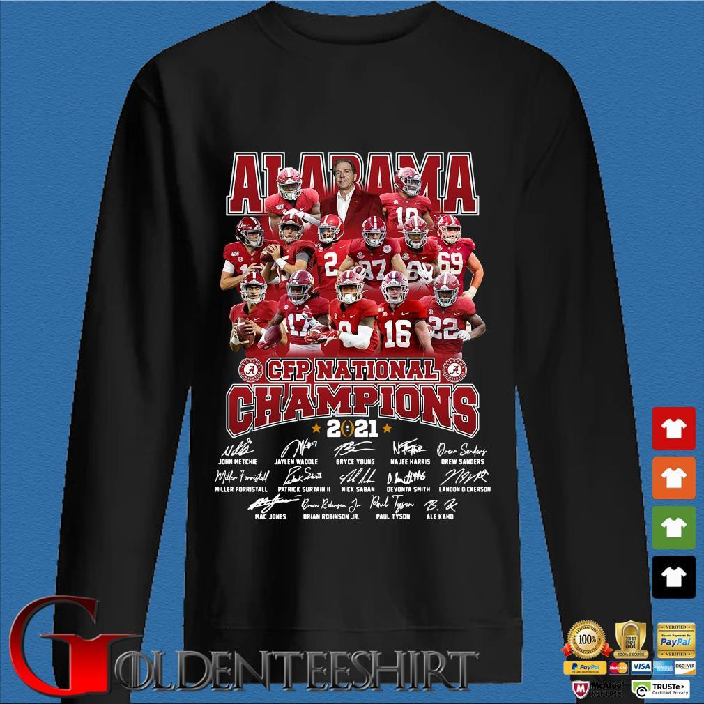 Alabama Crimson Tide CFP national Champions 2021 signatures s Den Sweater