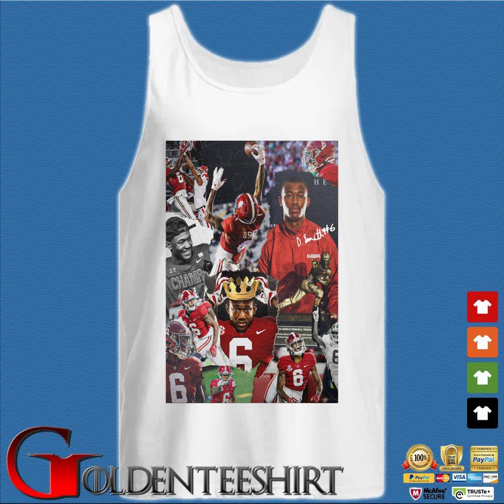 Alabama Crimson Tide Devonta Smith signature s Tank top trắng