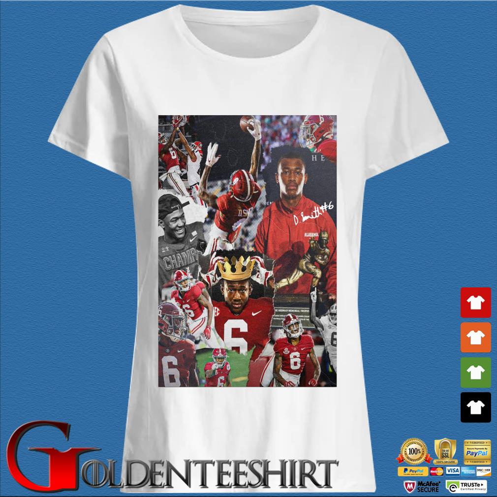 Alabama Crimson Tide Devonta Smith signature s Trang Ladies