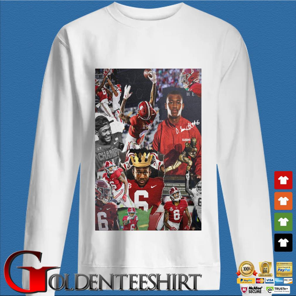 Alabama Crimson Tide Devonta Smith signature s trang Sweater