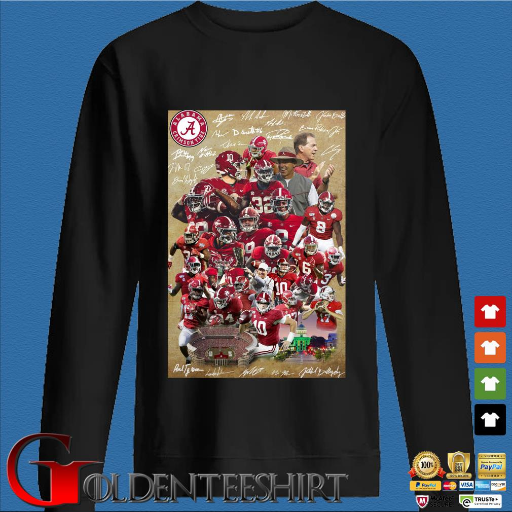 Alabama Crimson Tide full player signatures s Den Sweater