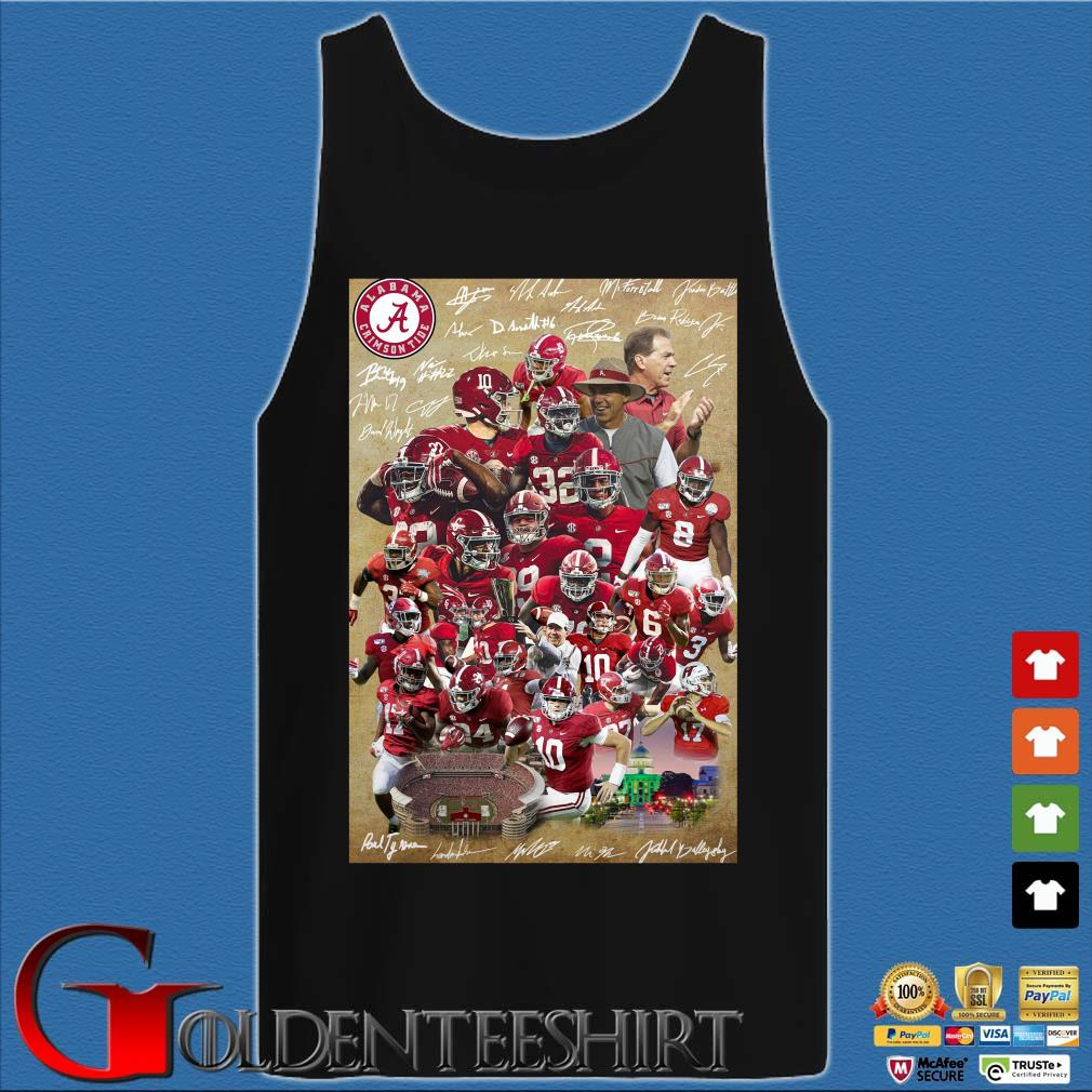 Alabama Crimson Tide full player signatures s Tank top den