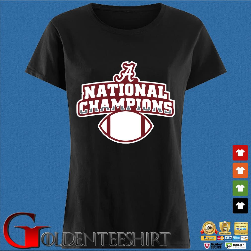 Alabama Crimson Tide national Champions t-s Den Ladies
