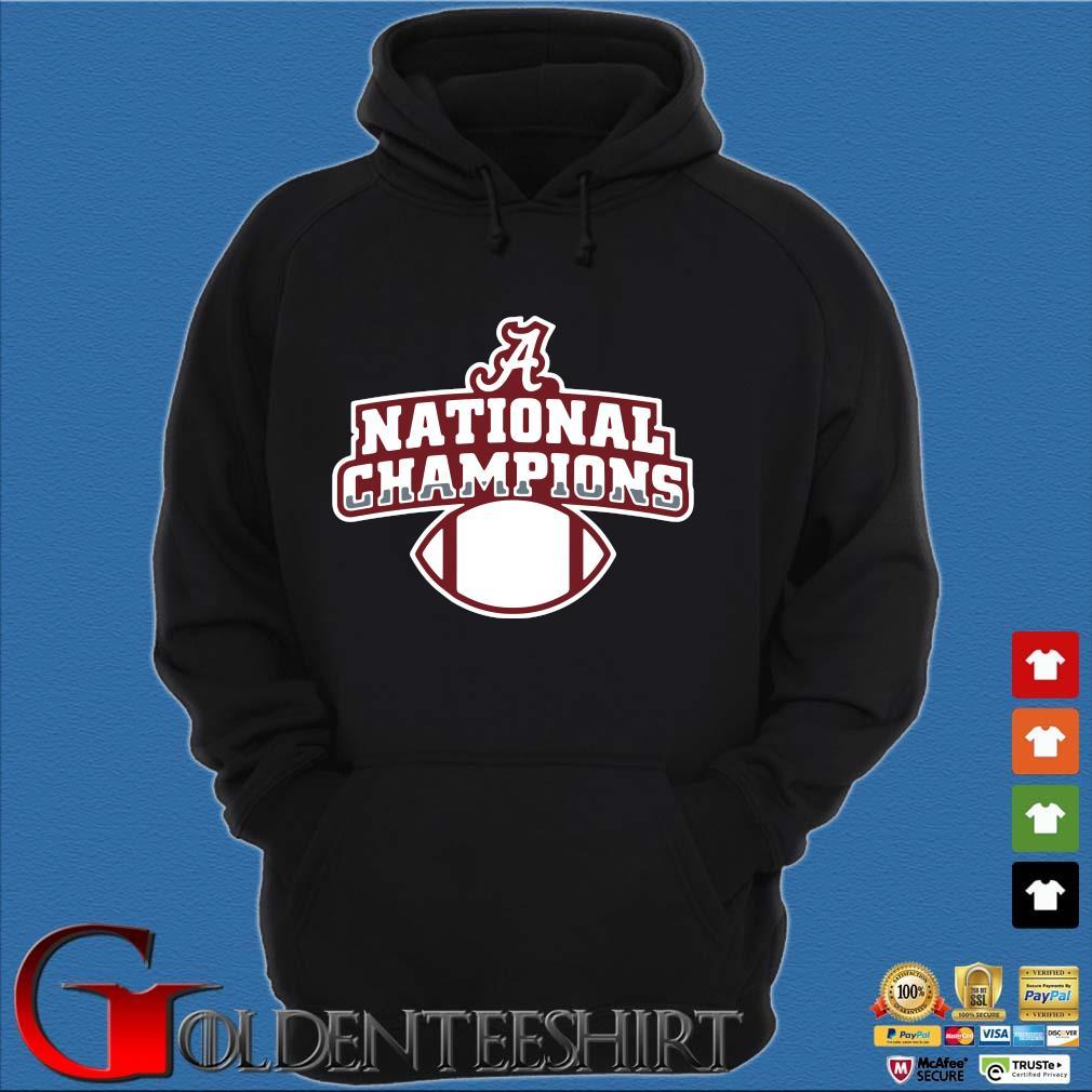 Alabama Crimson Tide national Champions t-s Hoodie đen