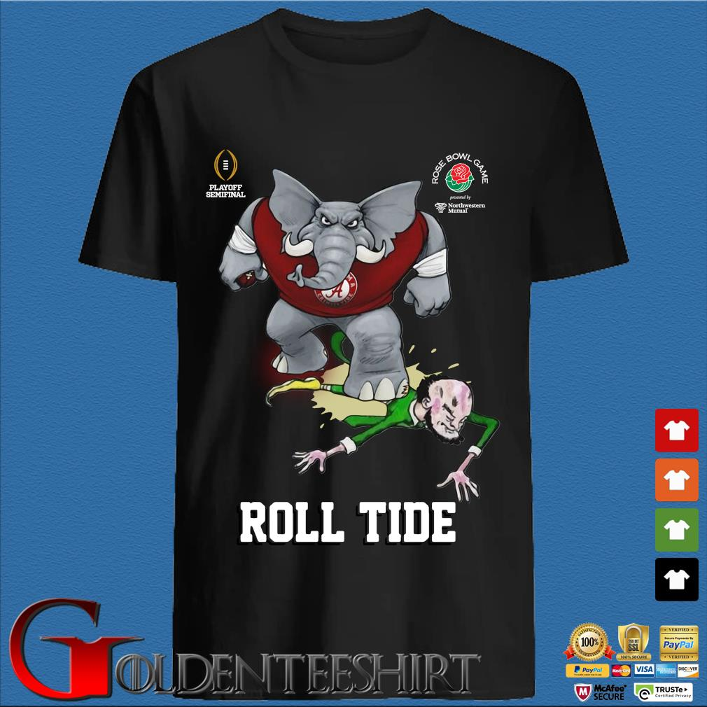 Alabama Crimson Tide play off semi final Rose Bowl Game roll tide shirt