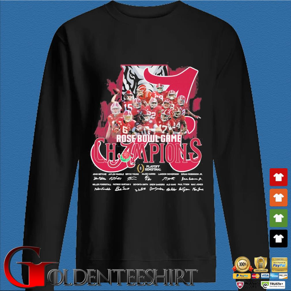 Alabama Crimson Tide Rose Bowl Game Champions signatures Shirt Den Sweater