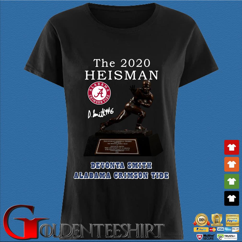 Alabama Crimson Tide the 2030 heisman devonta smith signature Shirt Den Ladies