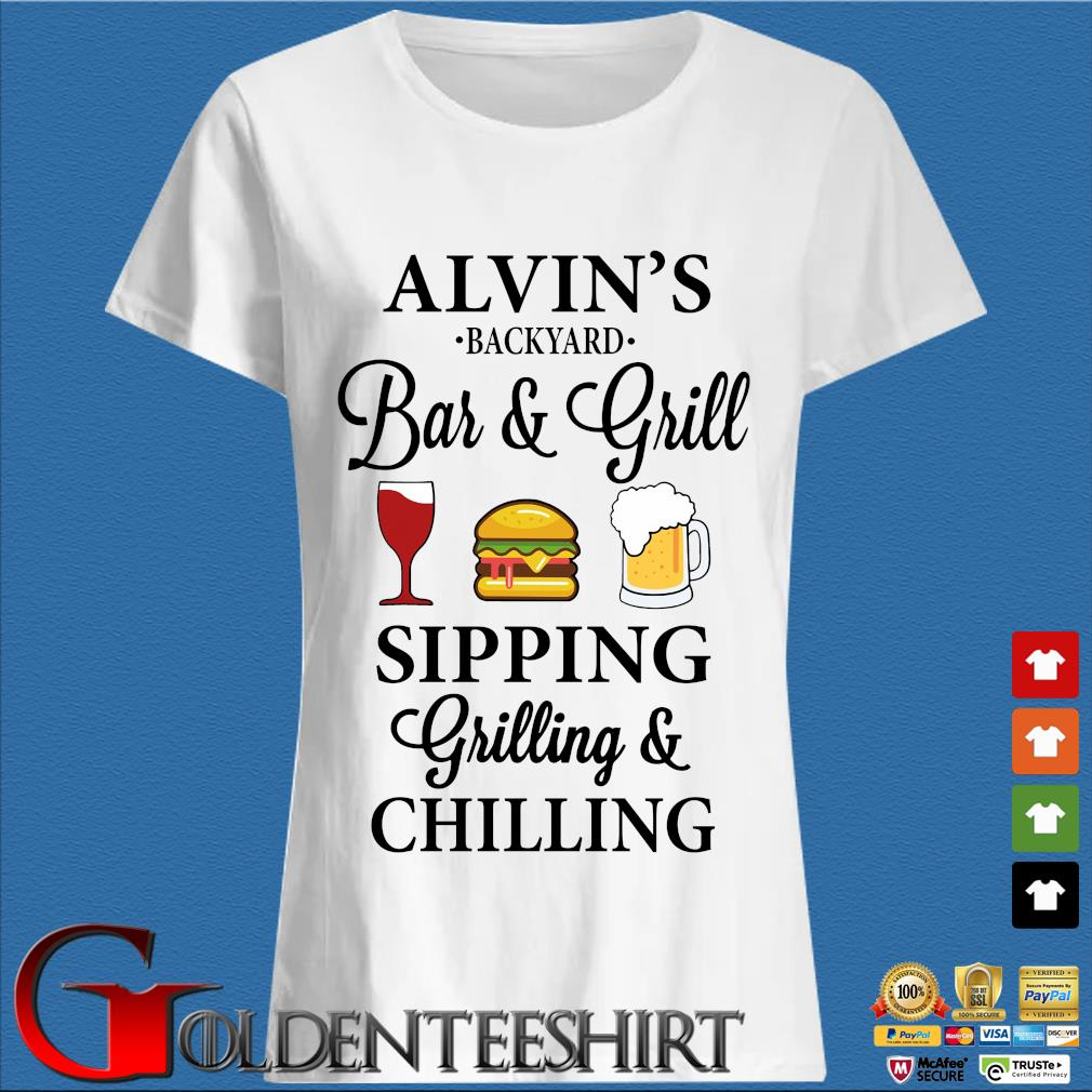Alvin's backyard bar and grill sipping grilling and chilling s Trang Ladies