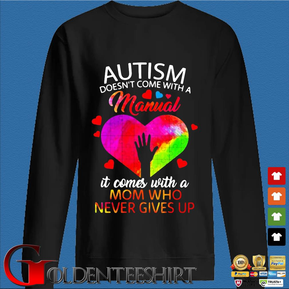 Autism doesn't come with a manual it comes with a mom who never gives up s Den Sweater