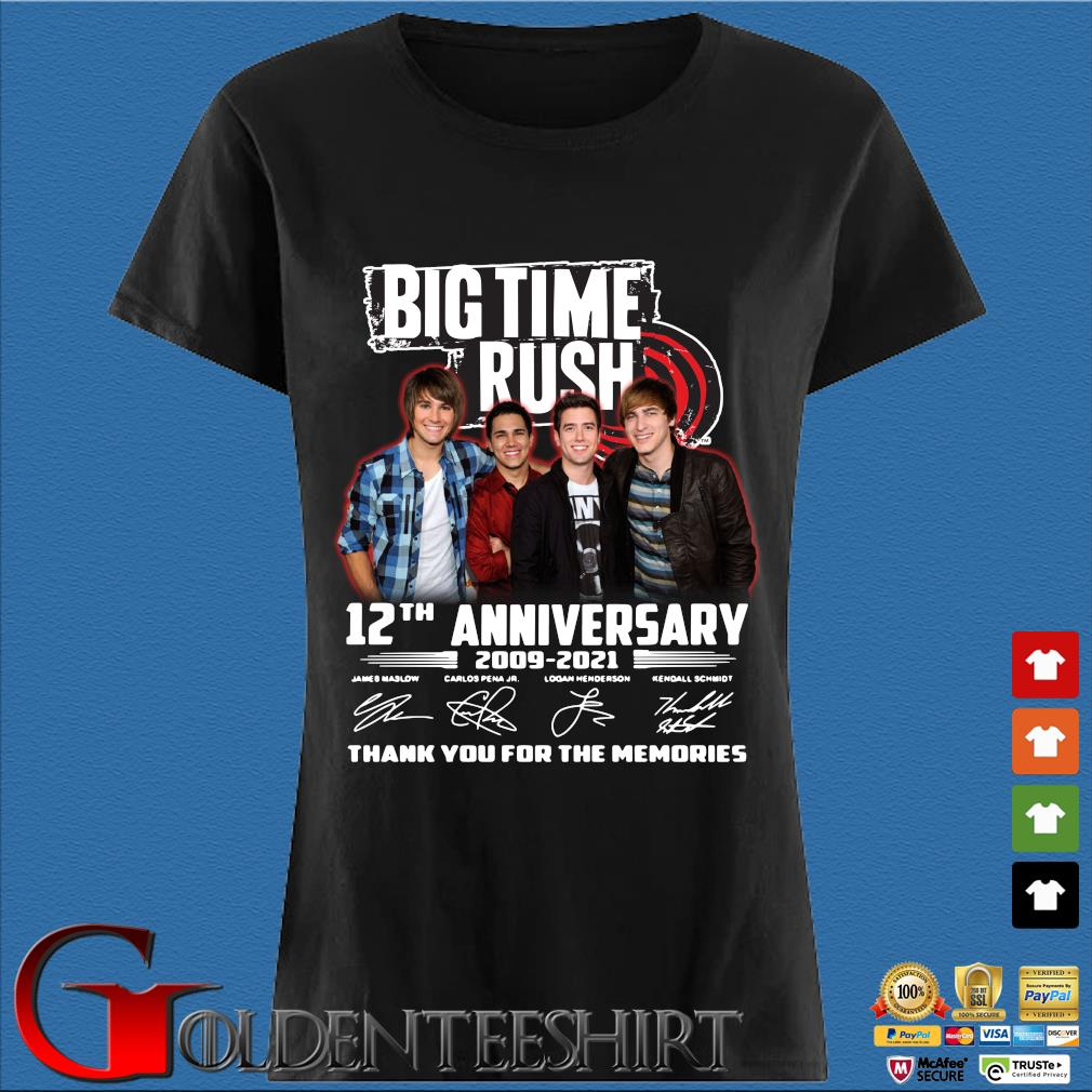 Big Time Rush 12th anniversary 2009-2021 thank you for the memories signatures s Den Ladies