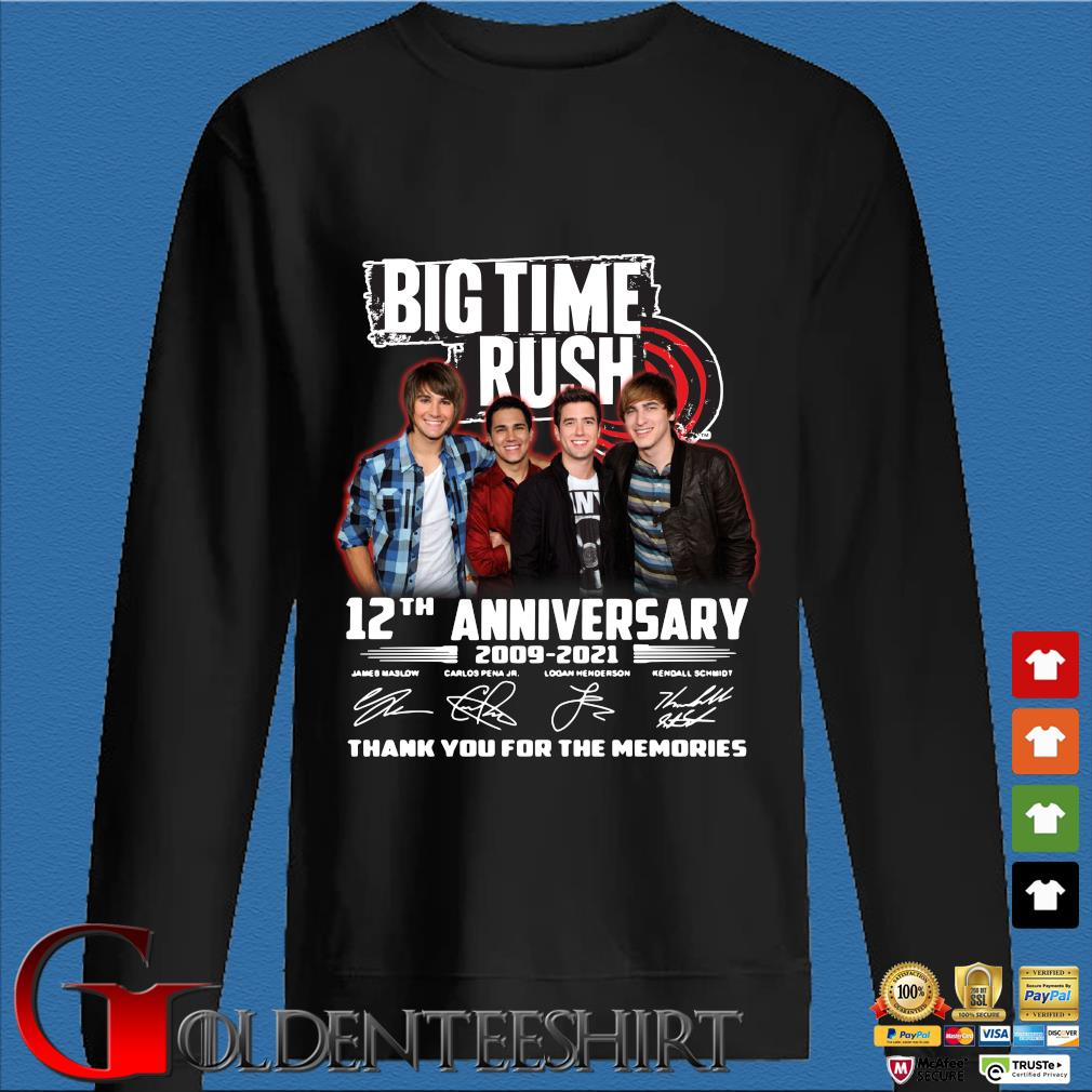 Big Time Rush 12th anniversary 2009-2021 thank you for the memories signatures s Den Sweater