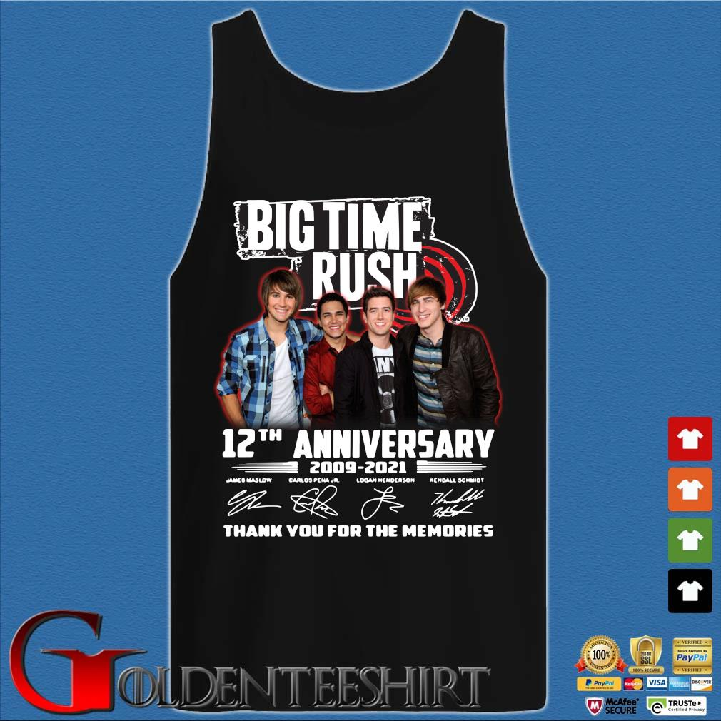 Big Time Rush 12th anniversary 2009-2021 thank you for the memories signatures s Tank top den