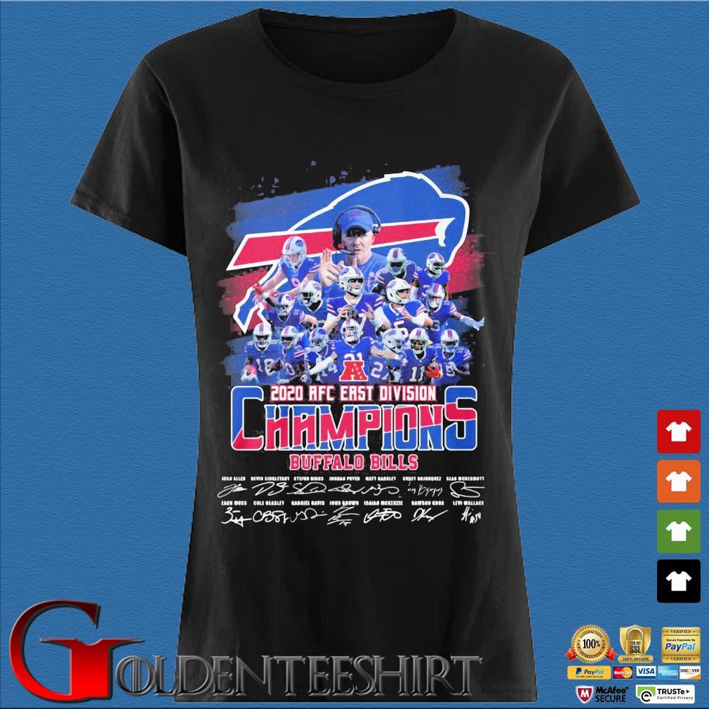 Buffalo Bills 2020 AFC east division Champions signatures s Den Ladies
