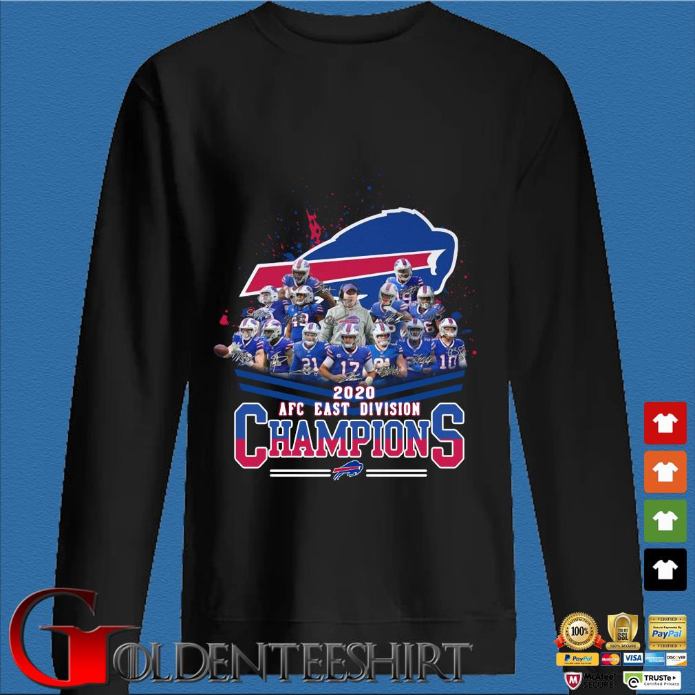 Buffalo Bills 2020 AFC east division Champions signatures Shirt Den Sweater