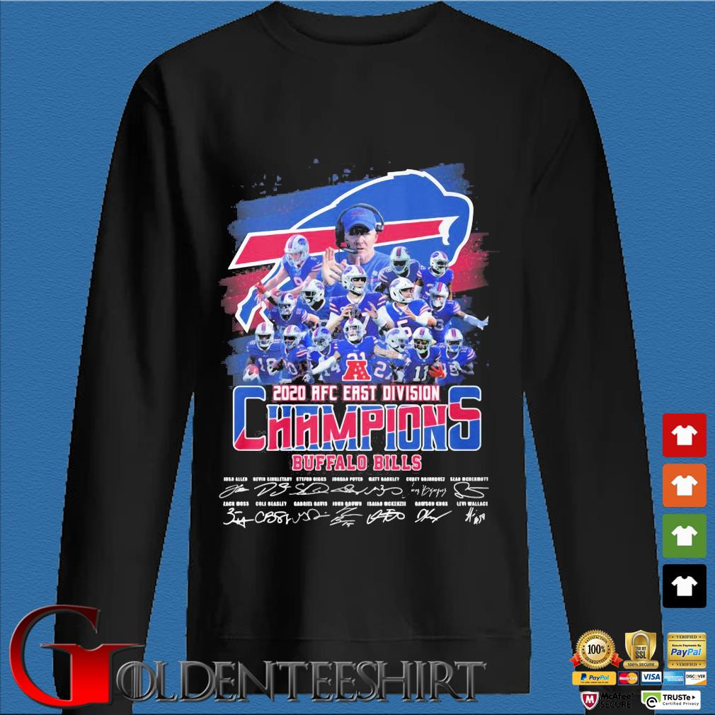 Buffalo Bills 2020 AFC east division Champions signatures s Den Sweater