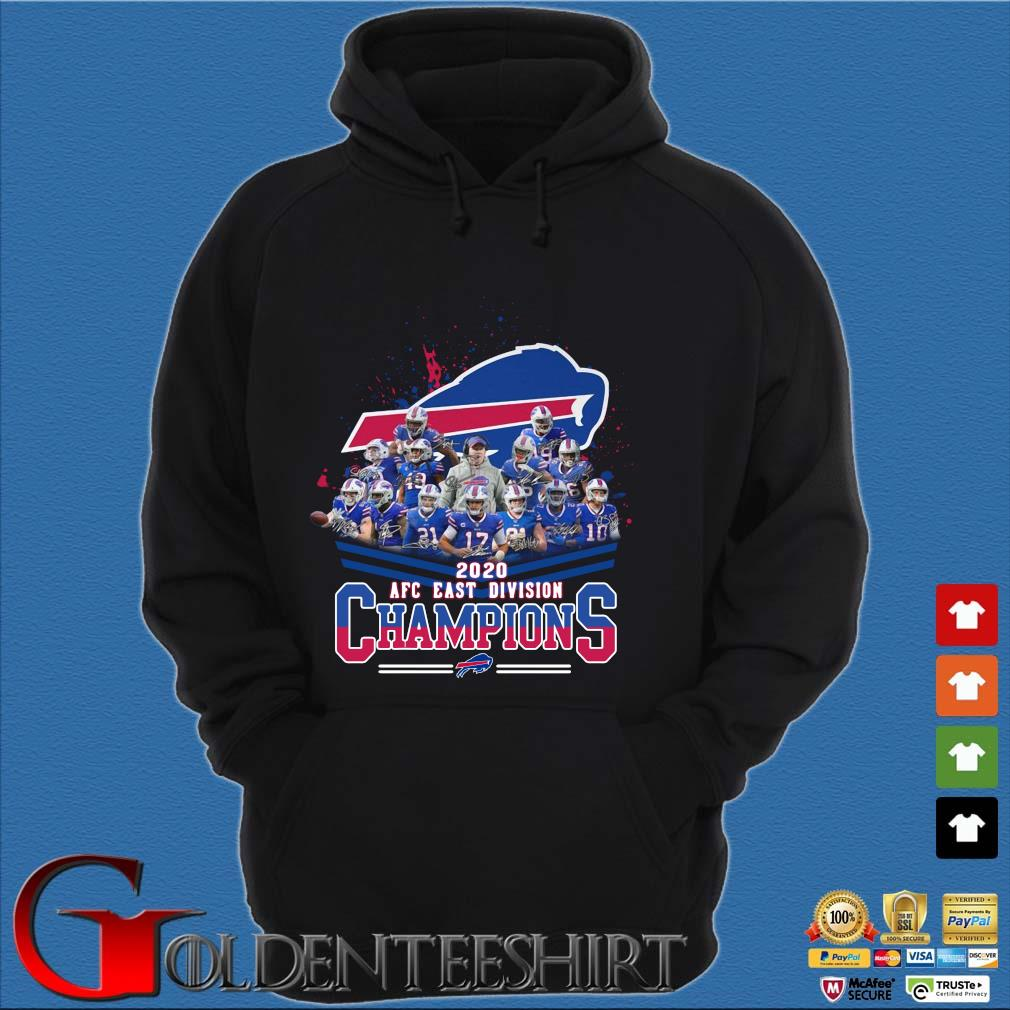 Buffalo Bills 2020 AFC east division Champions signatures Shirt Hoodie đen
