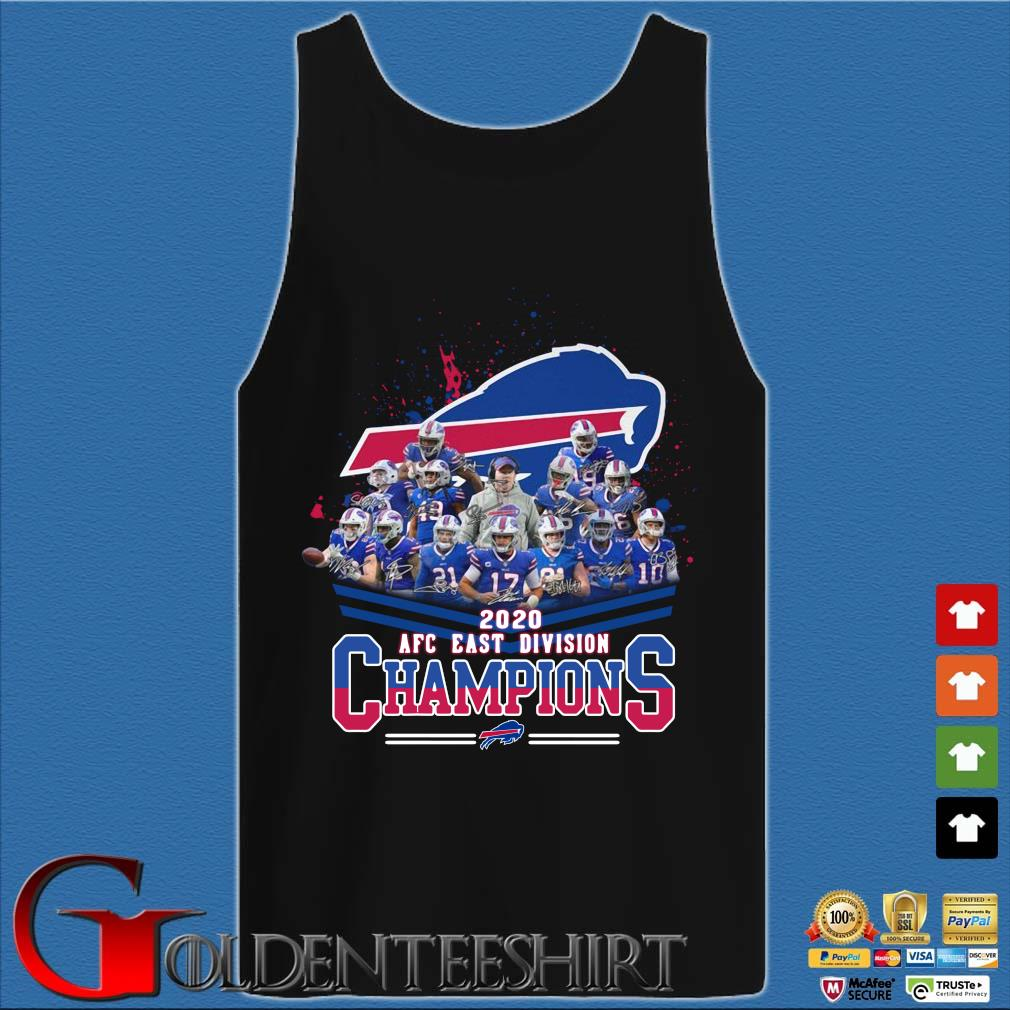 Buffalo Bills 2020 AFC east division Champions signatures Shirt Tank top den