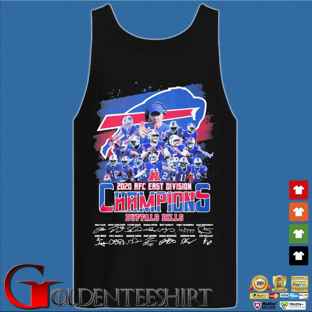 Buffalo Bills 2020 AFC east division Champions signatures s Tank top den