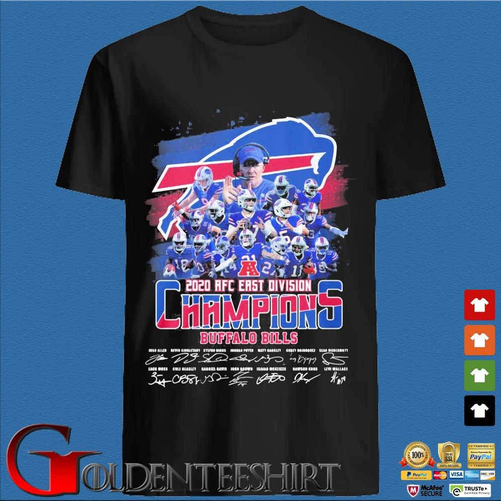 Buffalo Bills 2020 AFC east division Champions signatures shirt