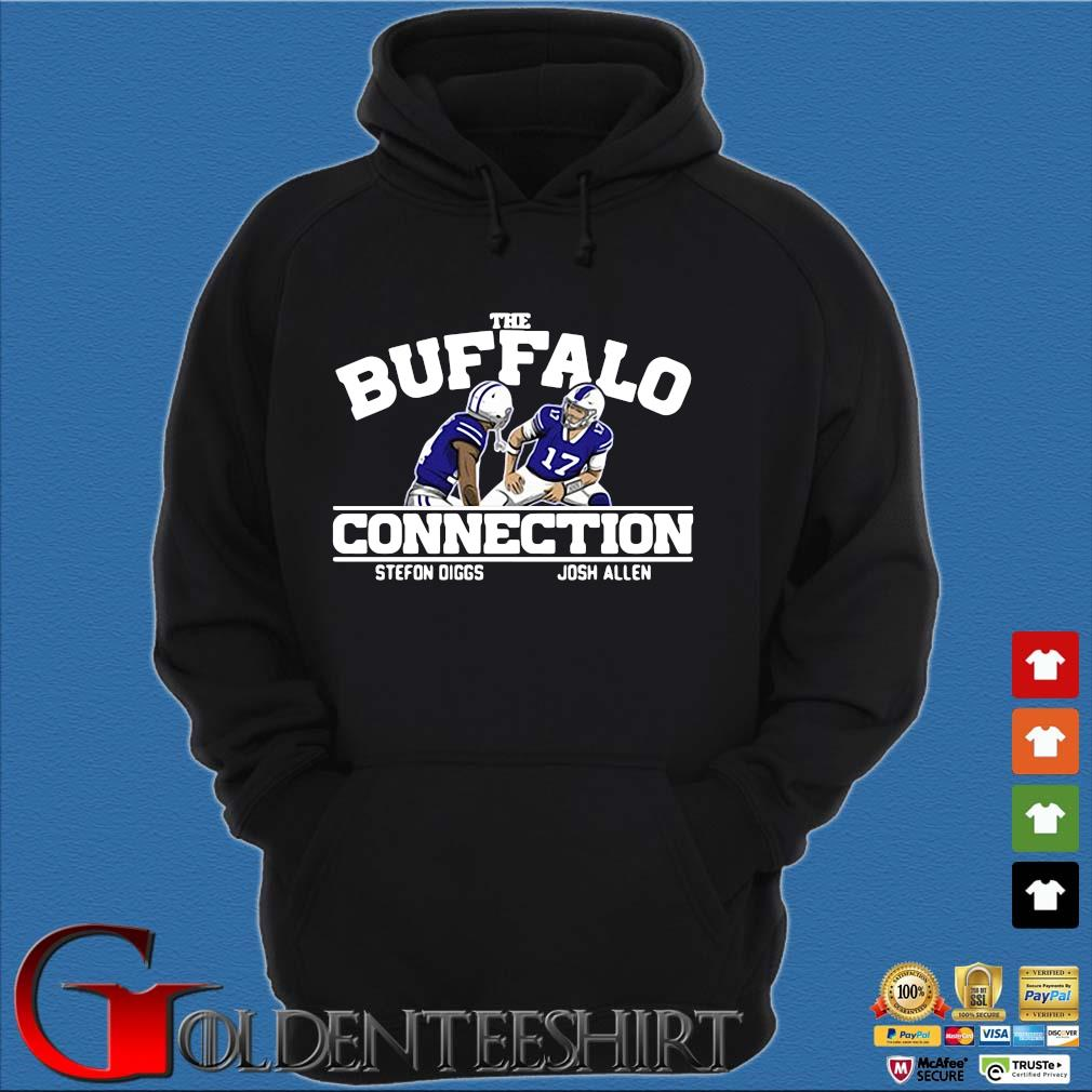 Buffalo Bills connection Stefon Diggs Josh Allen s Hoodie đen