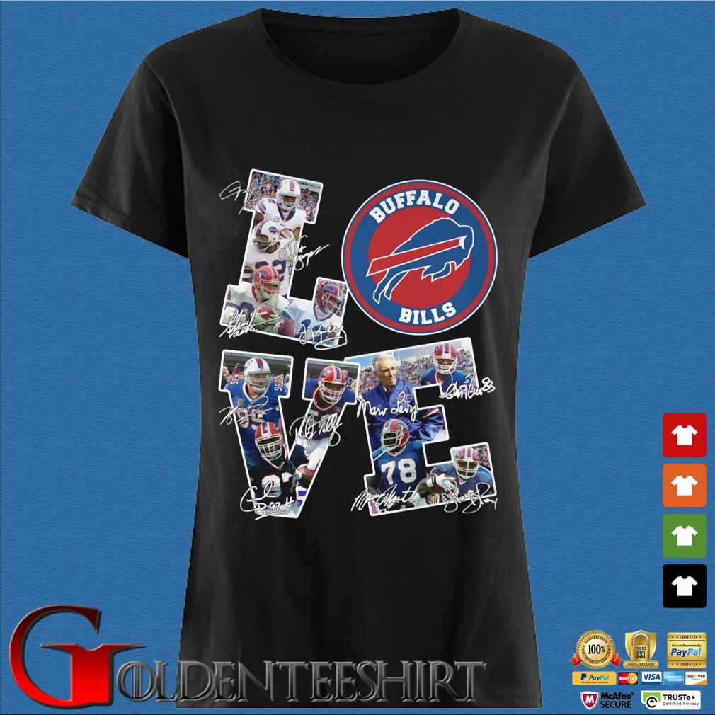 Buffalo Bills Love Signatures Shirt Den Ladies