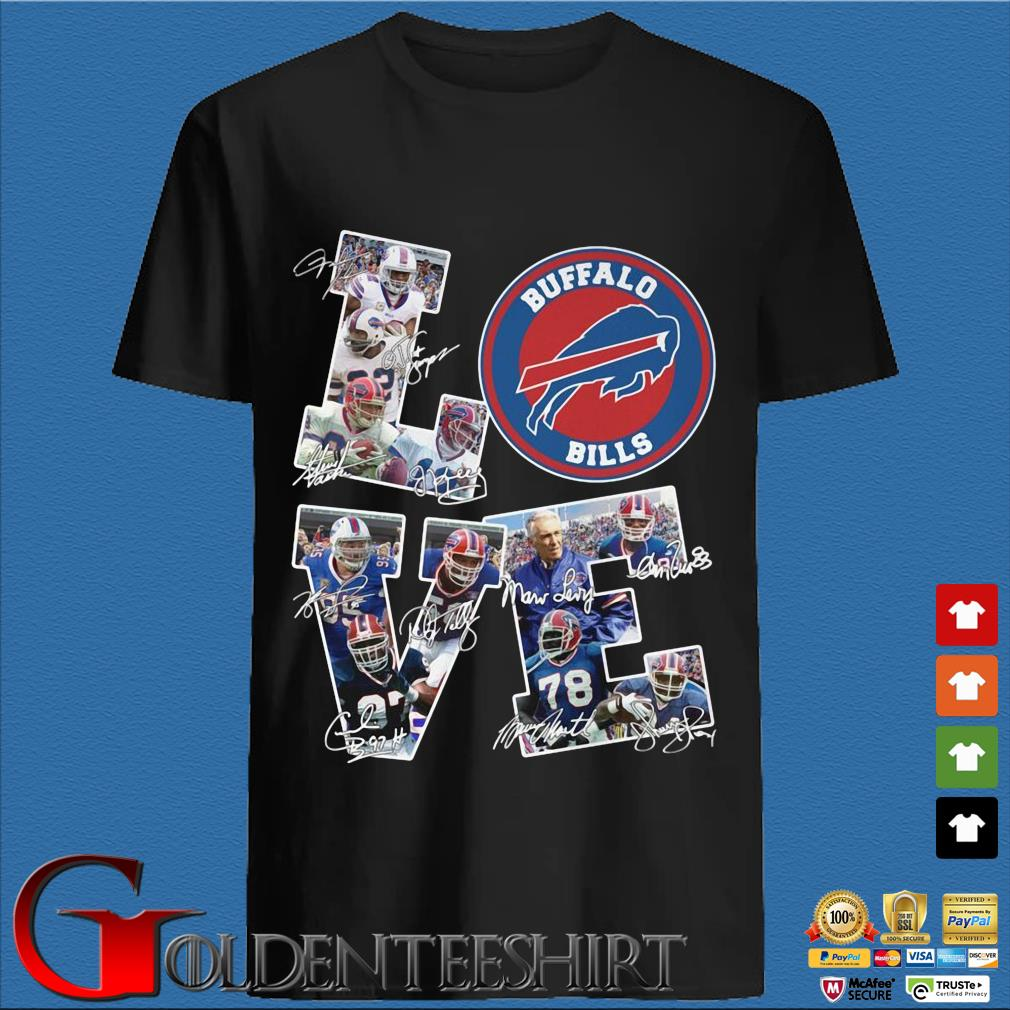 Buffalo Bills Love Signatures Shirt