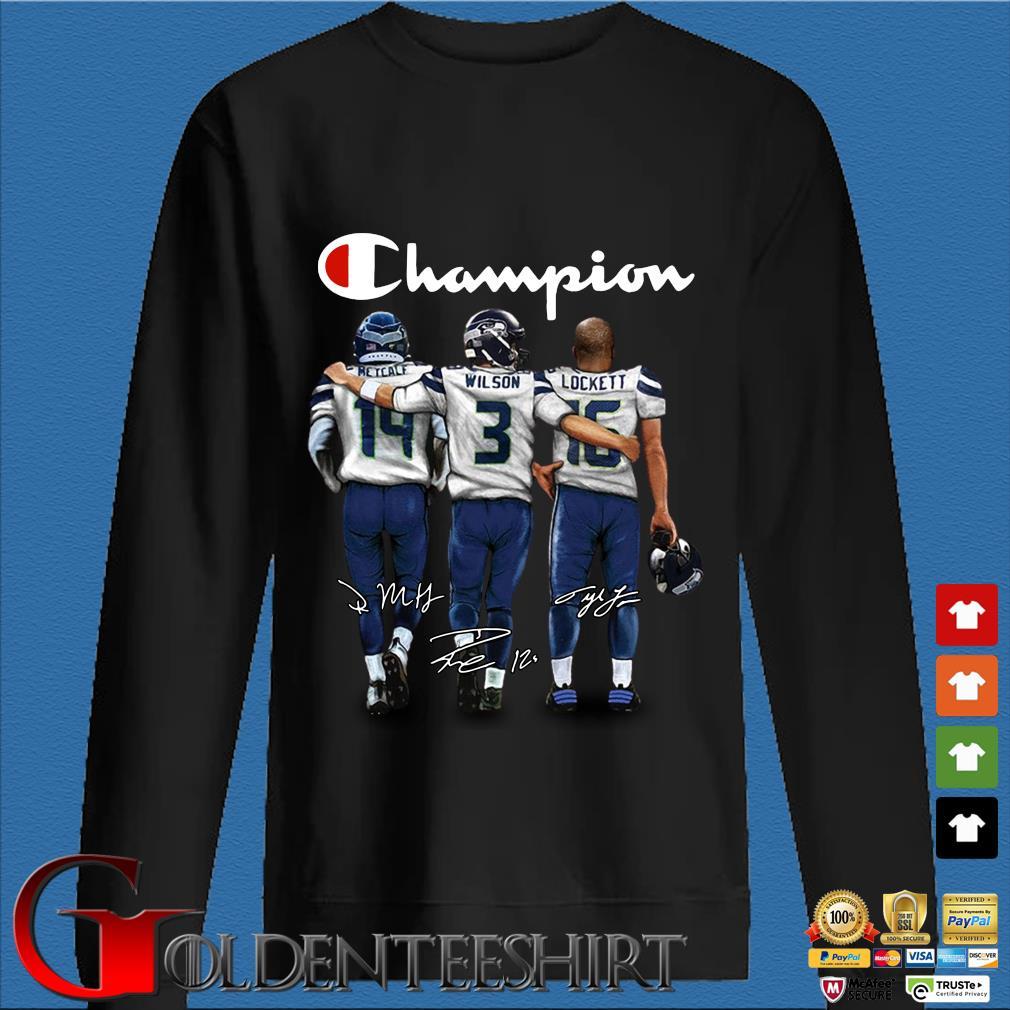 Champion Retcalf Wilson Lockett signatures Shirt Den Sweater