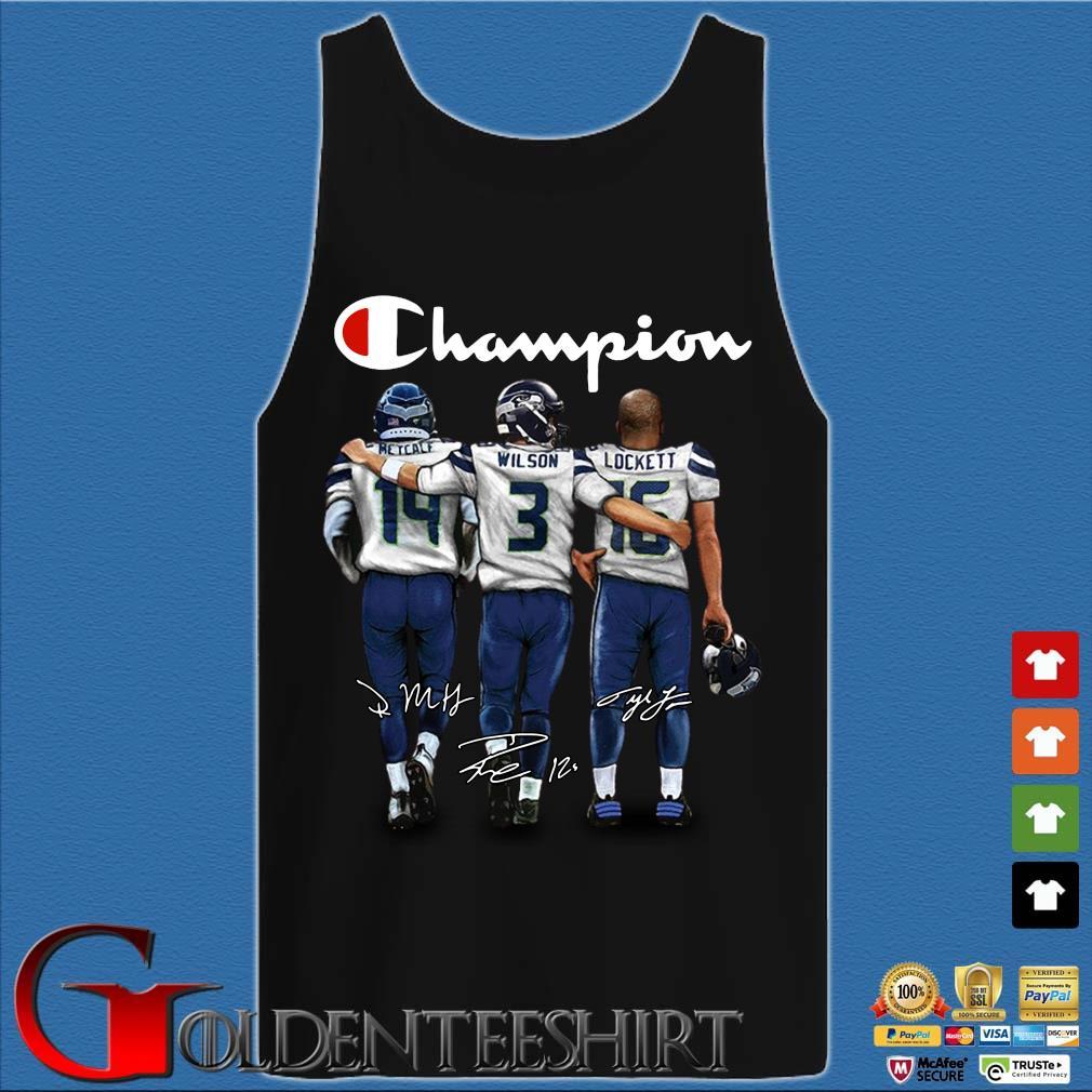 Champion Retcalf Wilson Lockett signatures Shirt Tank top den