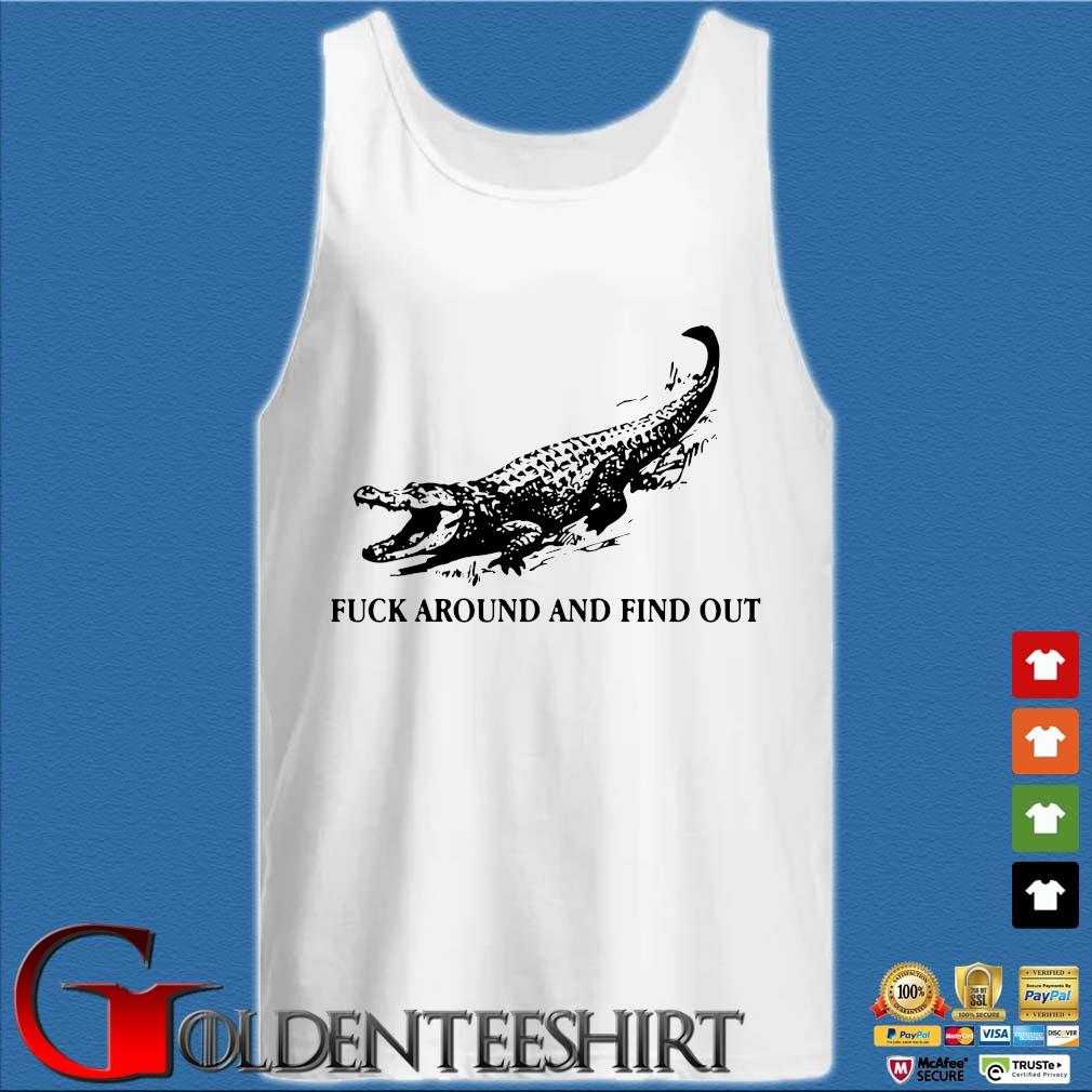 Crocodile fuck around and find out s Tank top trắng