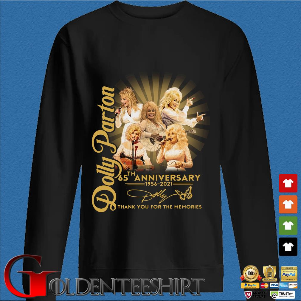Dolly Parton 65th anniversary 1956-2021 thank you for the memories signature s Den Sweater