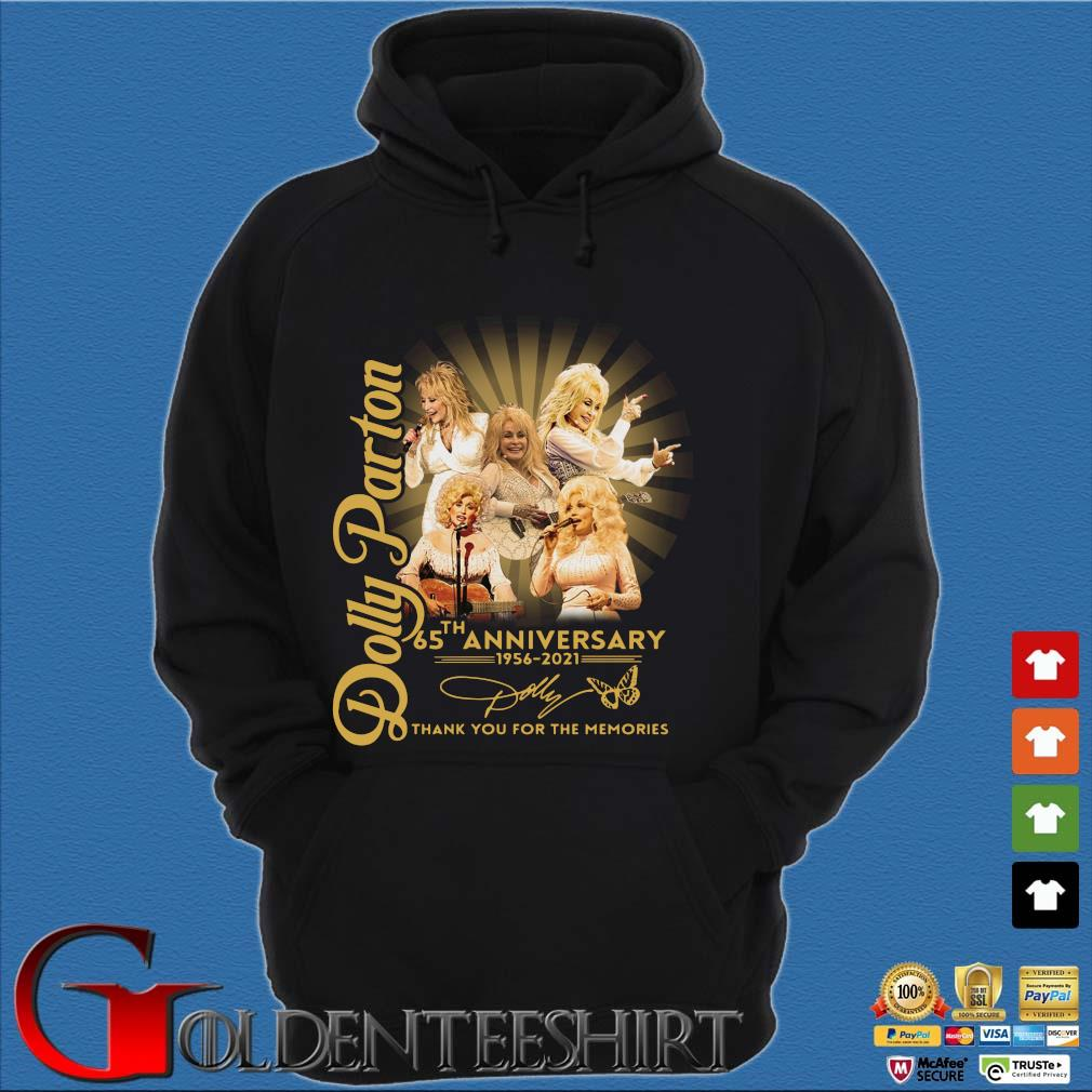Dolly Parton 65th anniversary 1956-2021 thank you for the memories signature s Hoodie đen