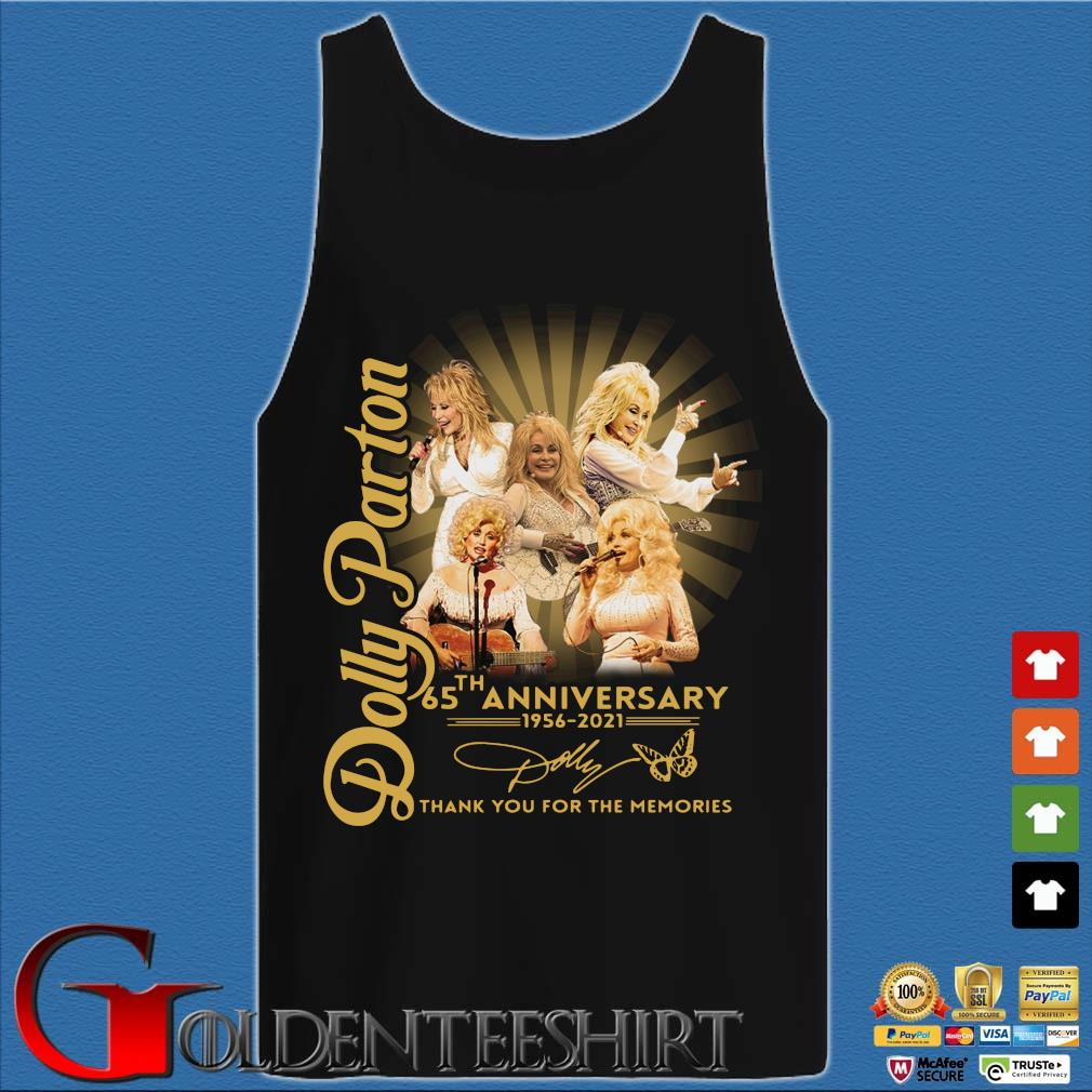 Dolly Parton 65th anniversary 1956-2021 thank you for the memories signature s Tank top den