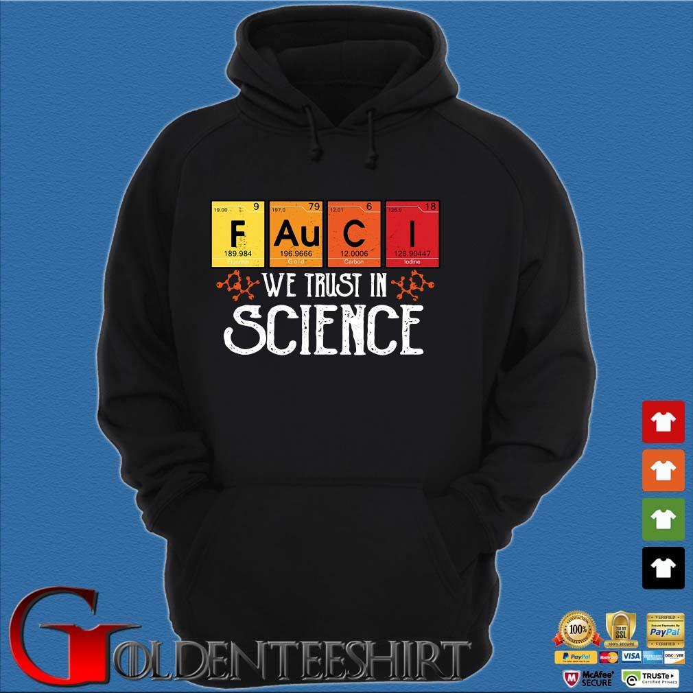 Fauci we trust in science s Hoodie đen