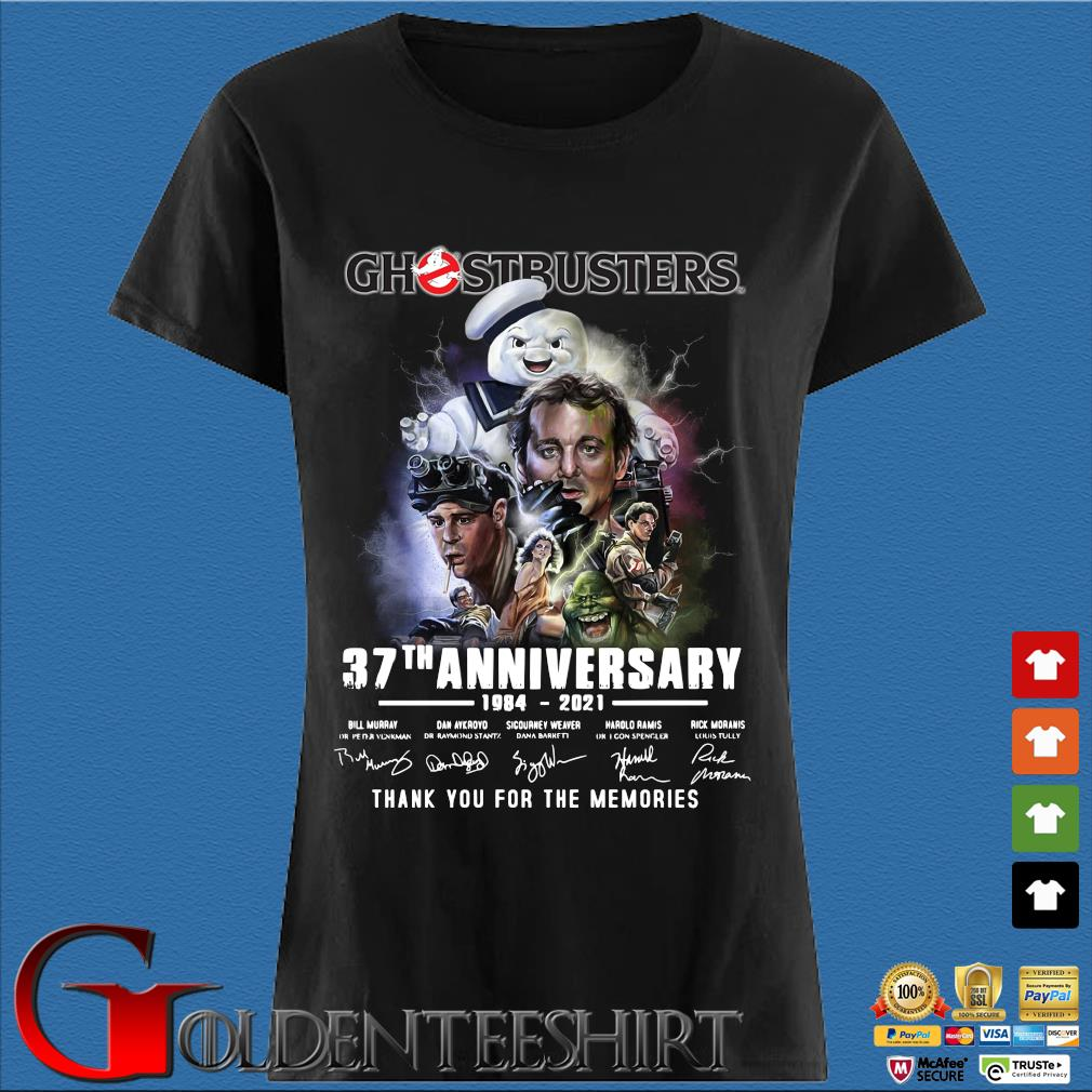 Ghostbusters 37th anniversary 1984-2021 thank you for the memories signatures s Den Ladies