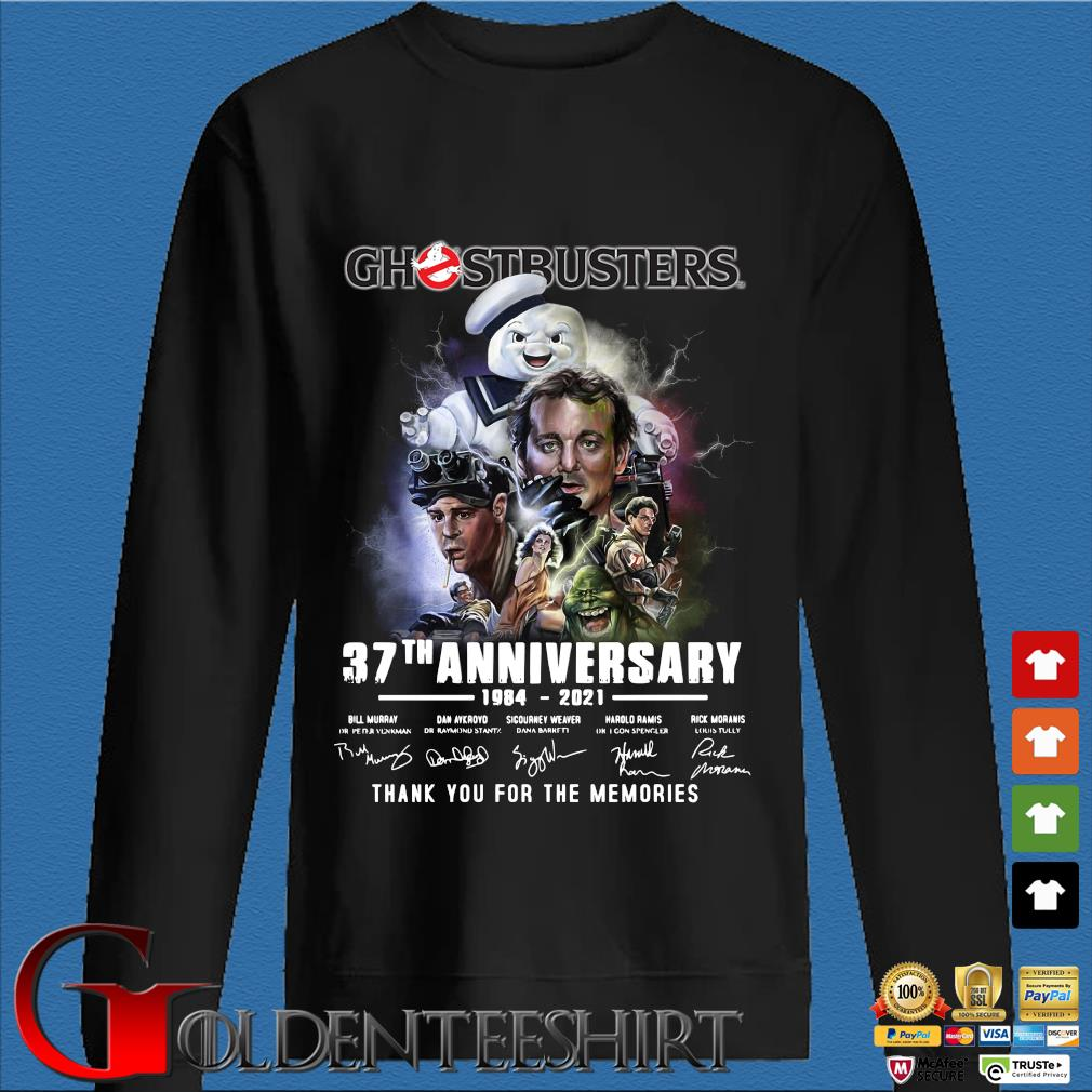 Ghostbusters 37th anniversary 1984-2021 thank you for the memories signatures s Den Sweater