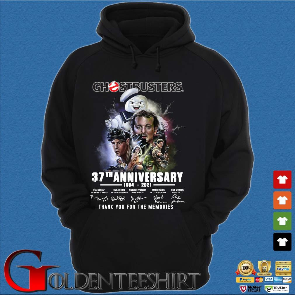 Ghostbusters 37th anniversary 1984-2021 thank you for the memories signatures s Hoodie đen