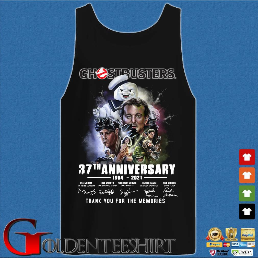 Ghostbusters 37th anniversary 1984-2021 thank you for the memories signatures s Tank top den