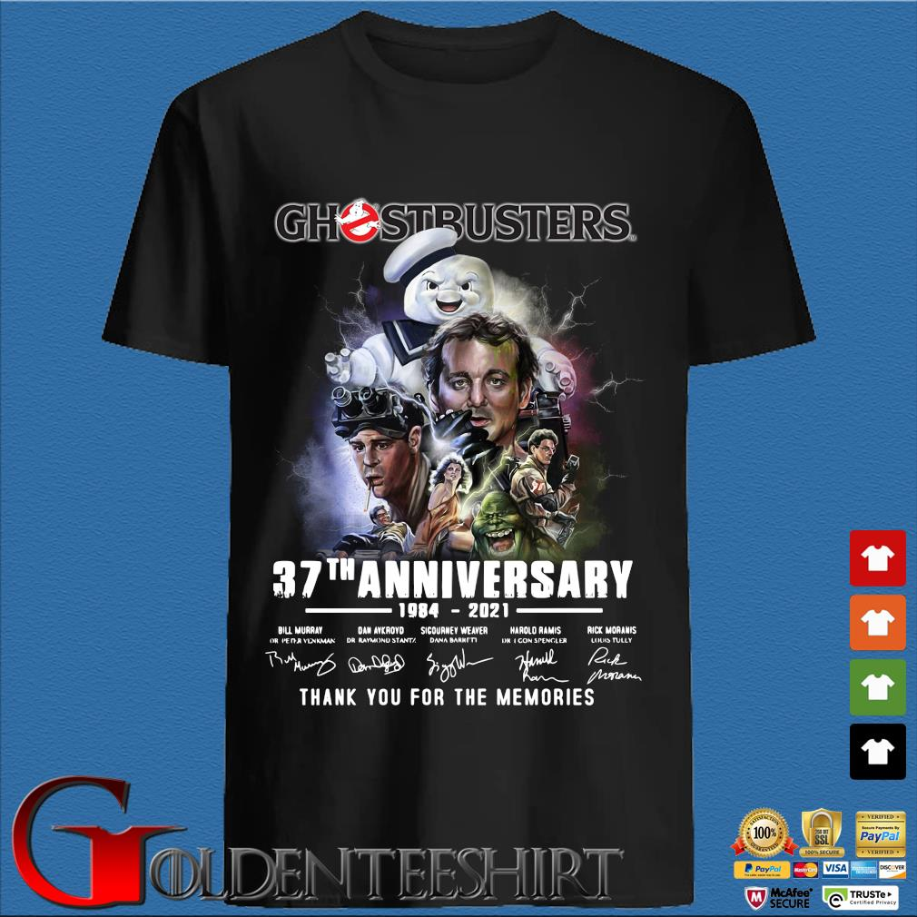 Ghostbusters 37th anniversary 1984-2021 thank you for the memories signatures shirt