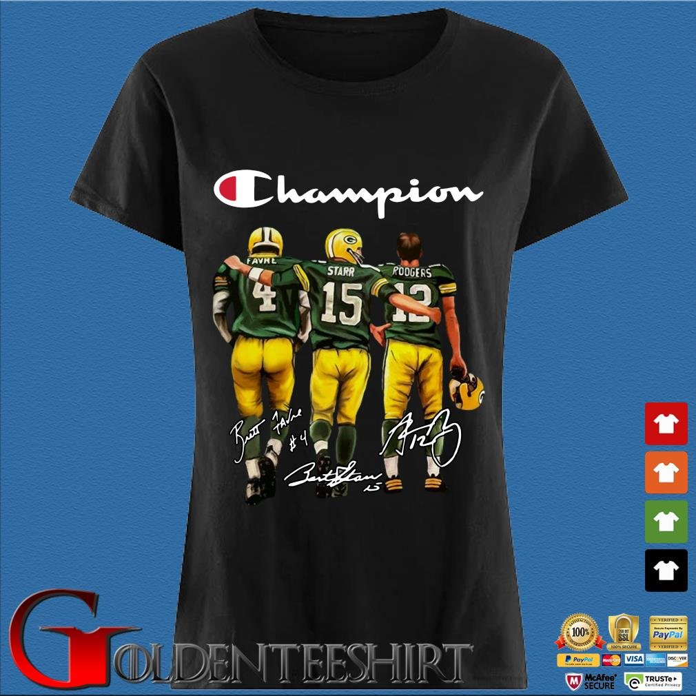 Green Bay Packers Champion Favre Starr Rodgers signatures s Den Ladies