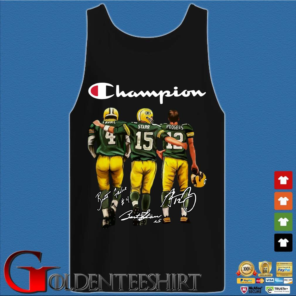 Green Bay Packers Champion Favre Starr Rodgers signatures s Tank top den