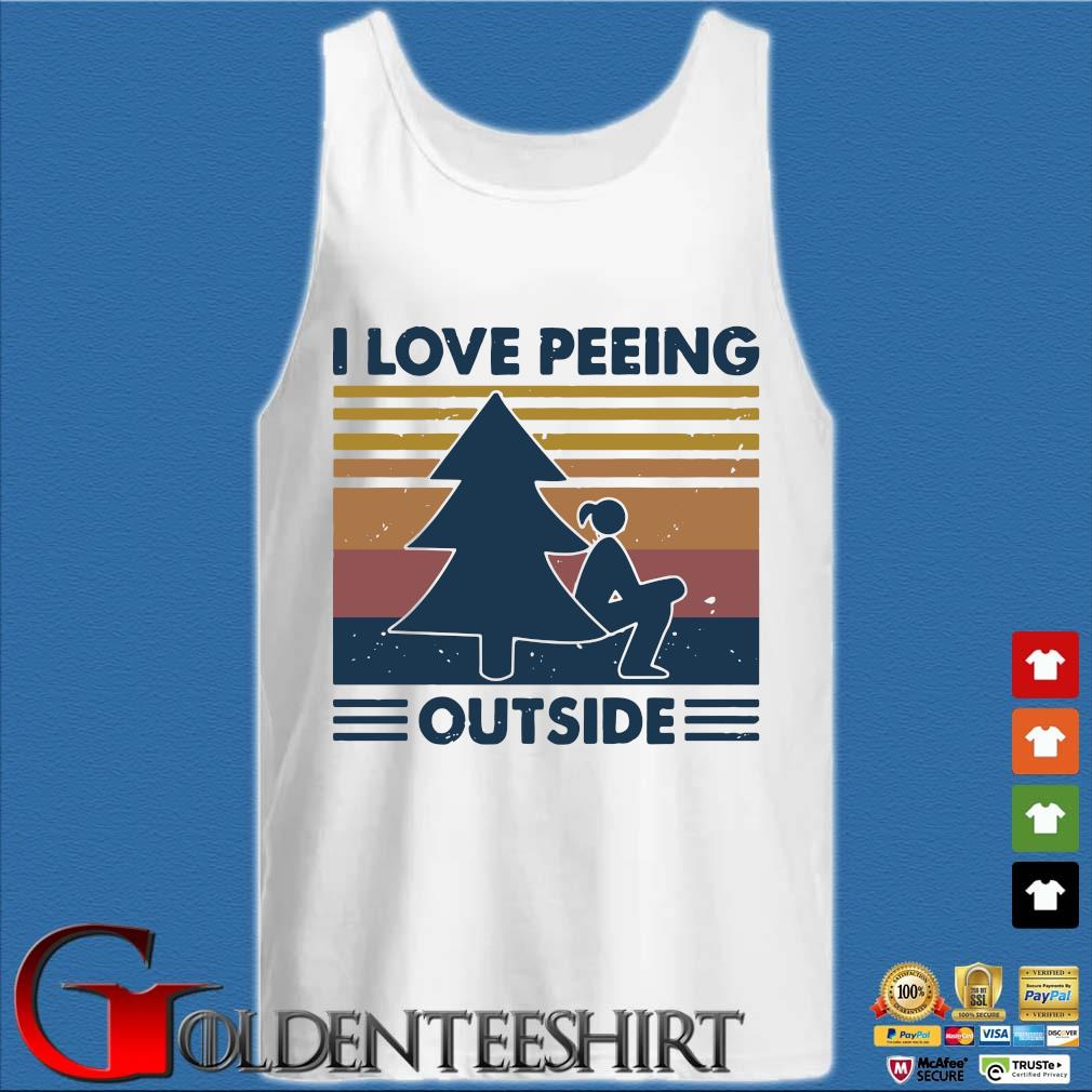 I Love Peeing Outside Vintage Shirt Tank top trắng