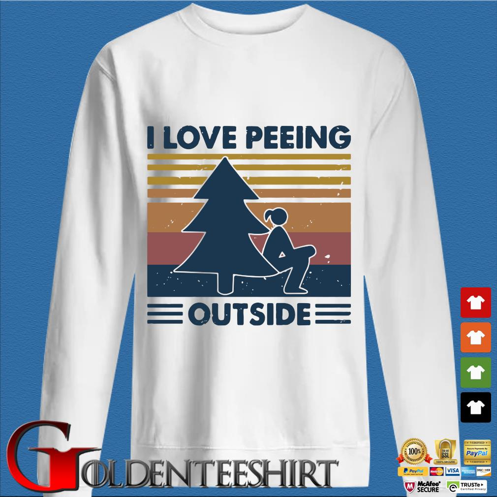 I Love Peeing Outside Vintage Shirt trang Sweater