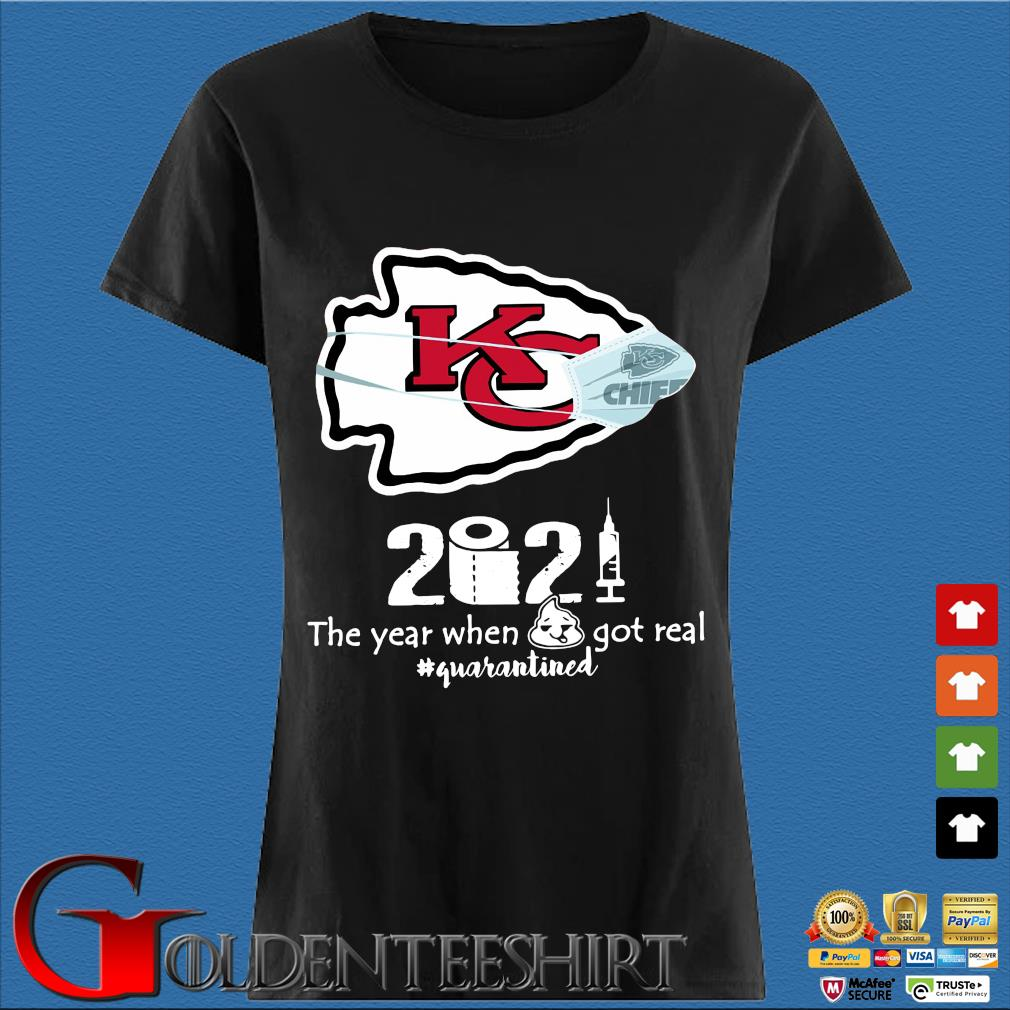 Kansas City Chiefs face mask 2021 toilet paper the year when got real #quanrantined s Den Ladies