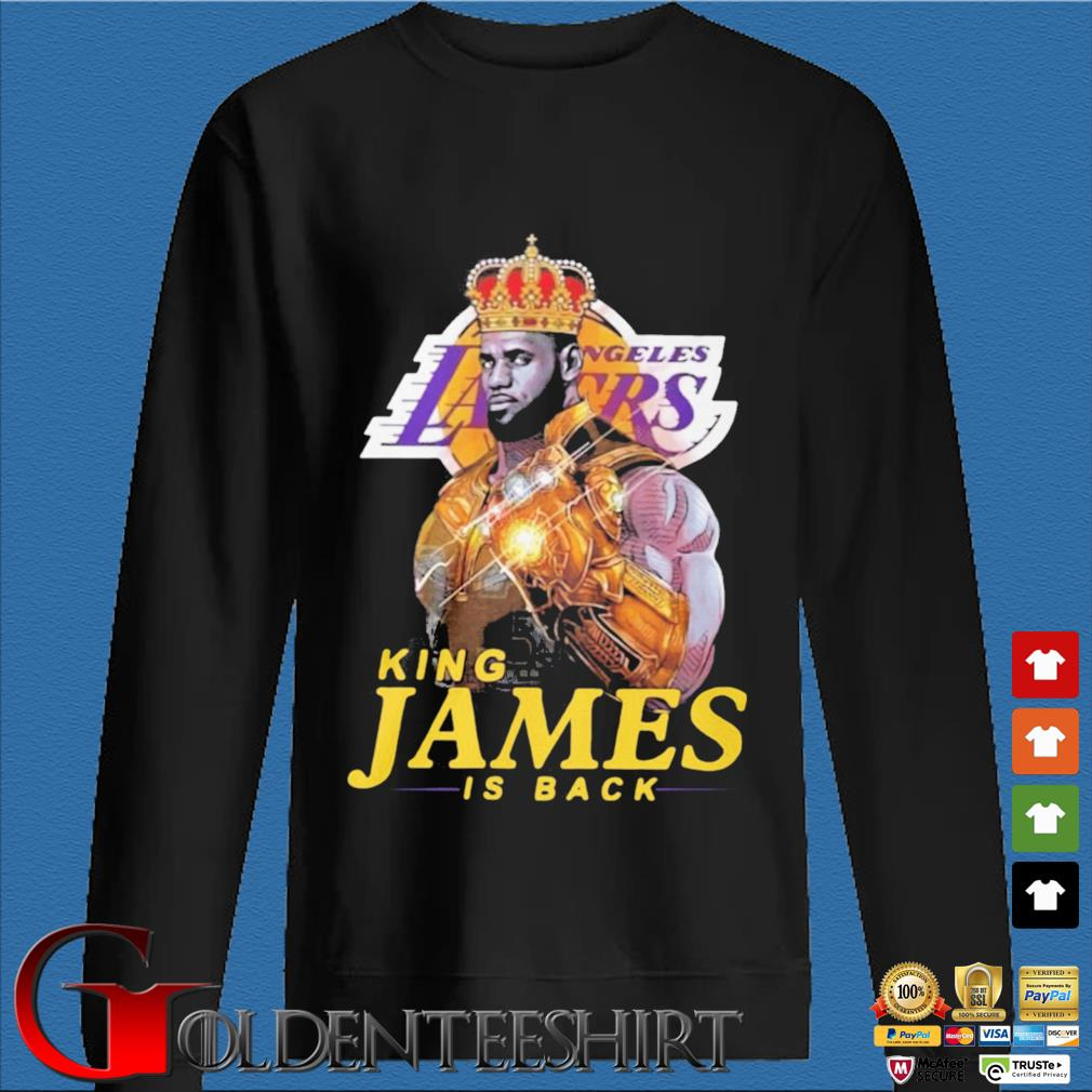 King James Thanos Los Angeles Lakers is back s Den Sweater