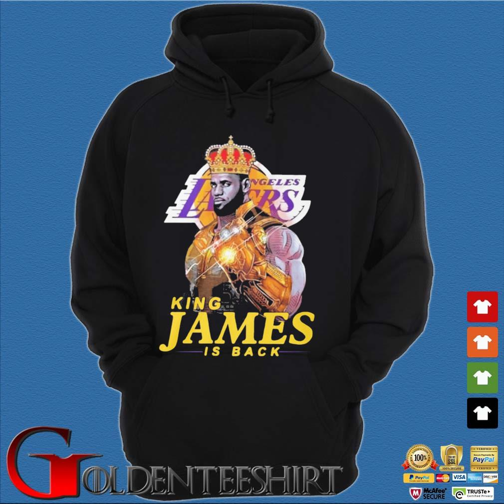 King James Thanos Los Angeles Lakers is back s Hoodie đen