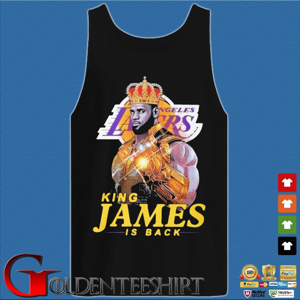 King James Thanos Los Angeles Lakers is back s Tank top den